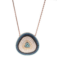 Load image into Gallery viewer, Symbolic Evil Eye Necklace