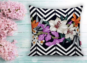 "Floral Cushion  Covers - 18"" (45cm) Pillow Cushion Cover"