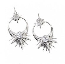 Load image into Gallery viewer, Silver Statement Earrings