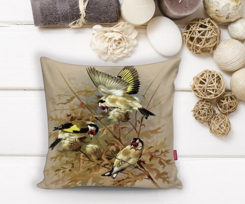 Goldfinch Cushion Covers - 43X43cm Home Sofa Bedding Decor