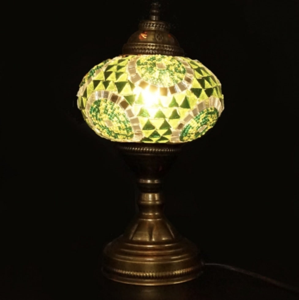 Mosaic Table Lamp, Green