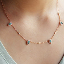 Load image into Gallery viewer, Delicate Green Drop Necklace