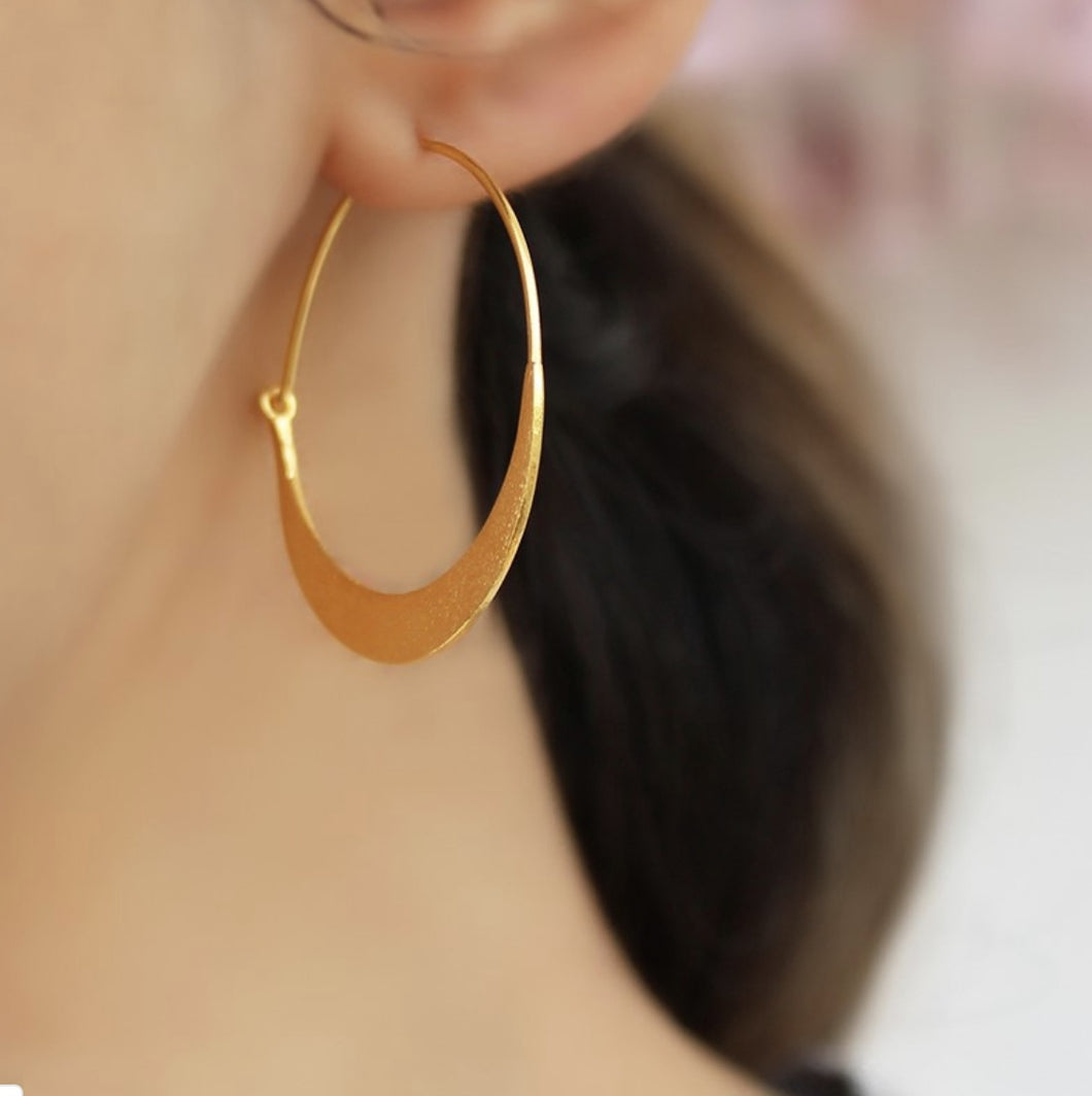 Gold Plated Hoop Earrings