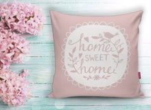 "Load image into Gallery viewer, Home Sweet Home Pink Cushion Covers Set - 18"" (45cm) Pillow Cushion Covers"