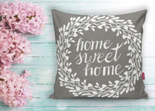 "Load image into Gallery viewer, Home Sweet Home Grey Cushion Covers Set - 18"" (45cm) Pillow Cushion Covers"