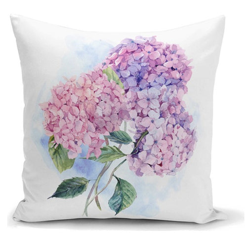 Hydrangea Cushion Cover - 43X43cm Home Sofa Bedding Decor