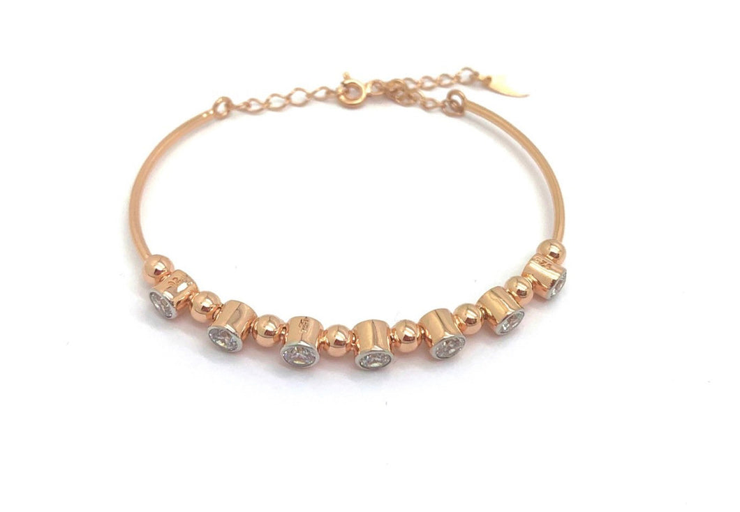 Swarovski Zirconia Bracelet Rose Gold Plating