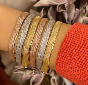 Statement Bracelets Available in Gold, Rose Gold or Rhodium Plating