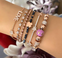 Load image into Gallery viewer, Pink Charm Bracelet