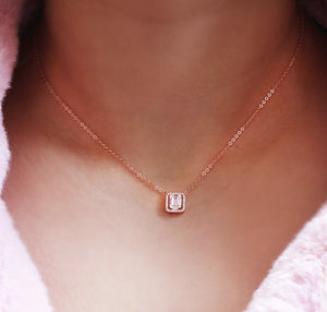 Delicate Baguette Necklace