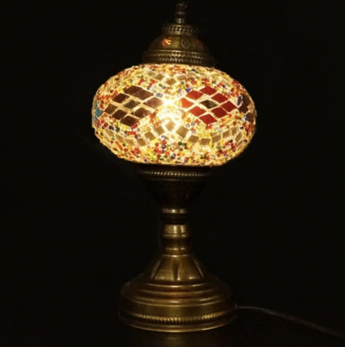 Mosaic Table Lamp - Mixed Colours