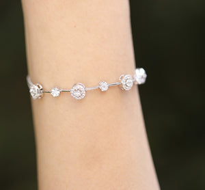 Sterling Silver Bracelet Made with Swarovski Zirconia