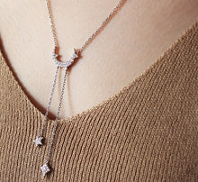 Load image into Gallery viewer, Dainty Moon and Stars Necklace