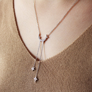 Dainty Moon and Stars Necklace