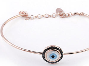 Symbolic Evil Eye Bangle