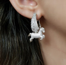 Load image into Gallery viewer, Pegasus Earrings - Silver