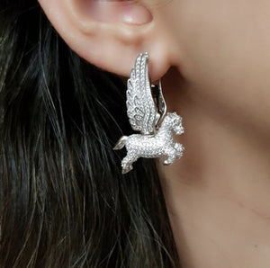 Pegasus Earrings - Silver