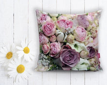 "Load image into Gallery viewer, Pink roses Cushion - 18"" (45cm) Pillow Cushion Cover"