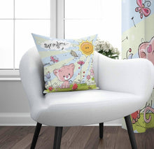 "Load image into Gallery viewer, Pink Cat Cushion Cover - 17"" (45cmX45 cm) Pillow Cushion Cover"