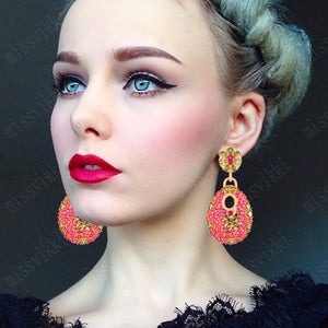 Red Pendant Earrings