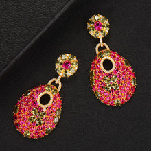 Load image into Gallery viewer, Red Pendant Earrings