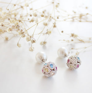 Colorful Stud Ball Earrings