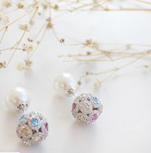 Load image into Gallery viewer, Colorful Stud Ball Earrings