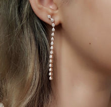 Load image into Gallery viewer, Rose-Tone Dangle Earrings