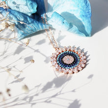 Load image into Gallery viewer, Luckily Pendant, Round Evil Eye Necklace