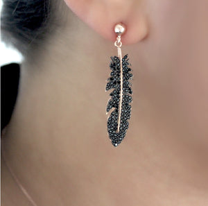 Lucky Feather Silver Earrings
