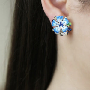 Turquoise Flower Earrings