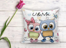 "Load image into Gallery viewer, U & Me Cushion Cover - 17"" (45cmX45cm) Pillow Cushion Cover"