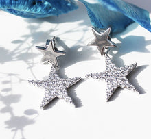 Load image into Gallery viewer, Sterling Silver Star Stud Earrings