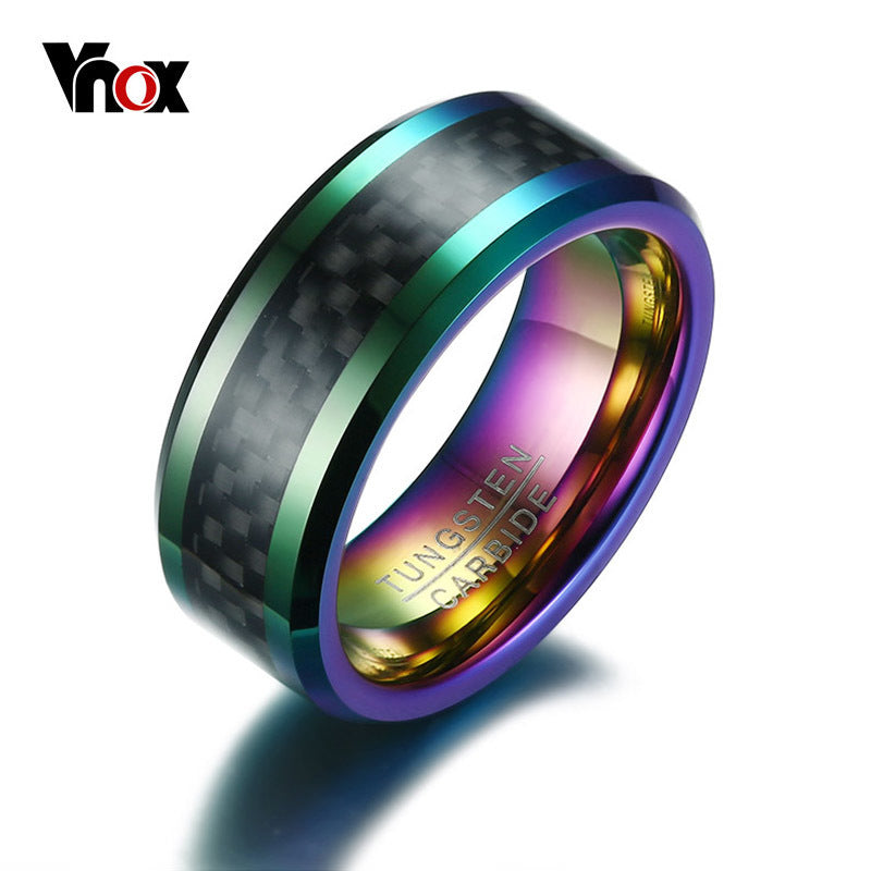 Vnox Tungsten Carbon Fiber Ring - Serious Carbon
