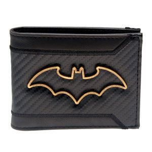 Batman Carbon Fiber Bi-Fold Wallet - Serious Carbon