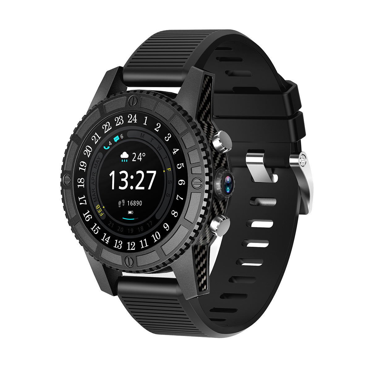 4G Wifi Smart Carbon Fiber Watch - Serious Carbon