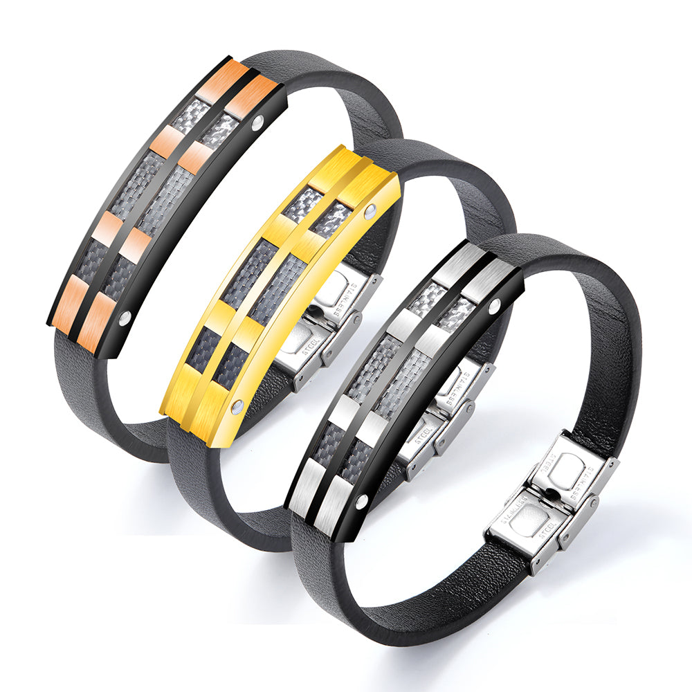 AENINE New Style Fashion Carbon Fiber Bracelet - Serious Carbon