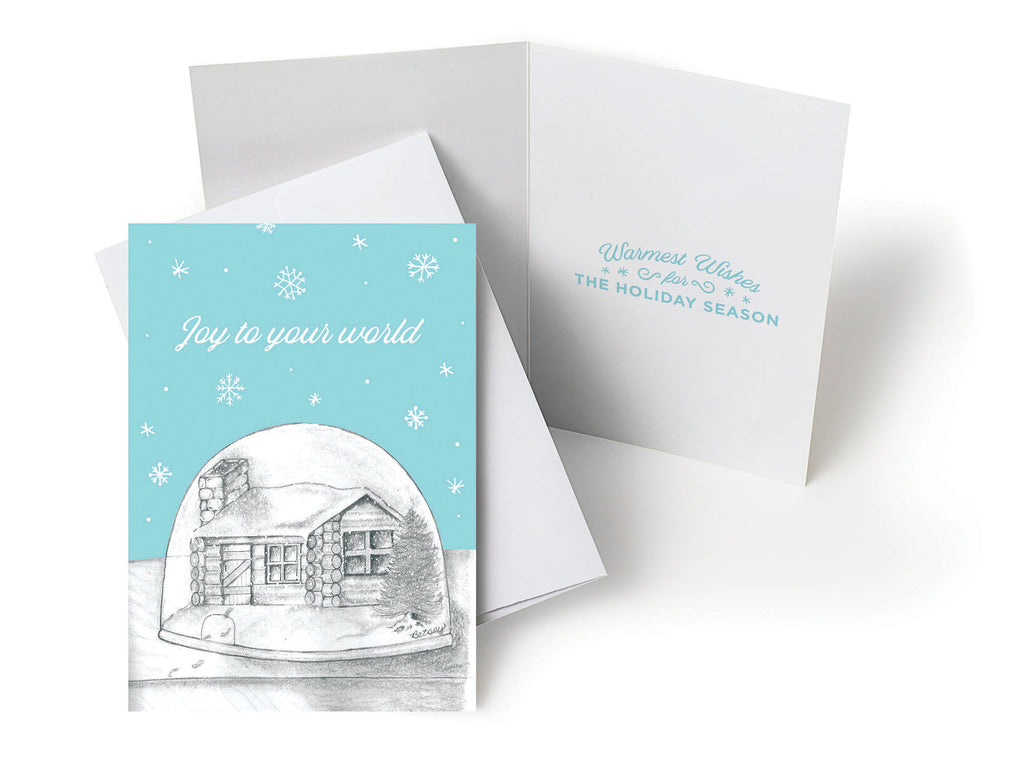 UHCCF Holiday Card – Snowglobe with Footprints