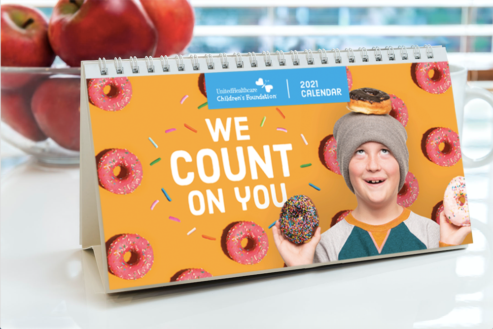 We Count On You - UHCCF 2021 Desk Calendar