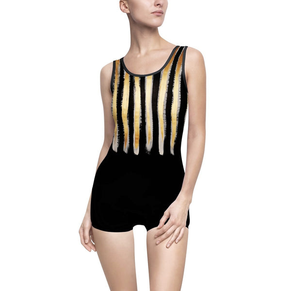 24K Vintage-Style One-Piece Swimsuit