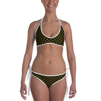 Gold Monogram 2-in-1 Reversible Bikini