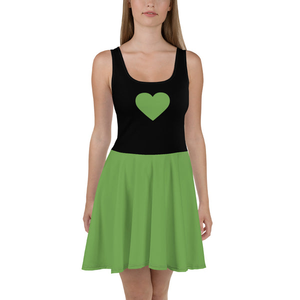 Sweetheart Skater Dress - Emerald