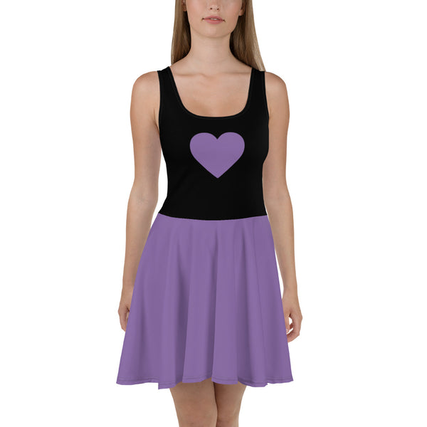 Sweetheart Skater Dress - Lilac