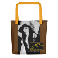 Kimberly in Black and White by Crystal Dean Tote