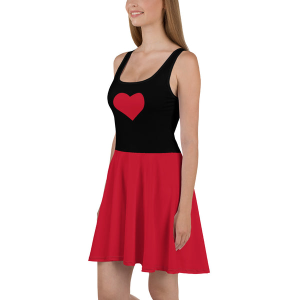 Sweetheart Skater Dress - Queen