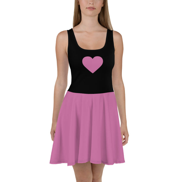 Sweetheart Skater Dress - Rosa