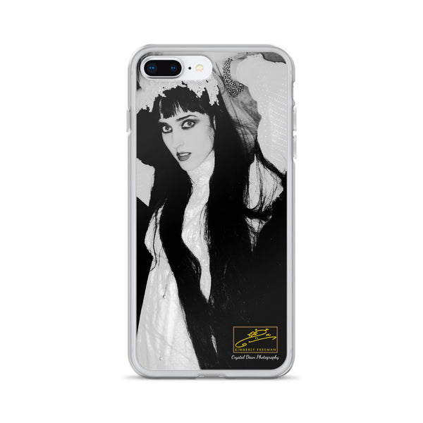 Kimberly in Black and White by Crystal Dean iPhone Case