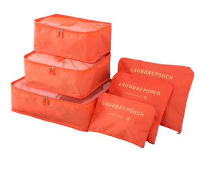 Packing Cubes Set (6pcs) - Orange