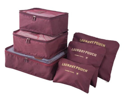 Packing Cubes Set (6pcs) - Bordeaux Red