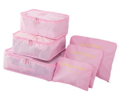 Packing Cubes Set (6pcs) - Pink